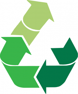Recycling clothes logo
