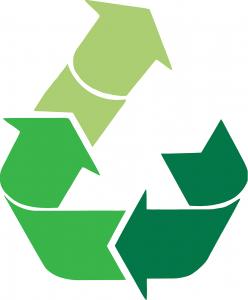 Recycling clothes logo