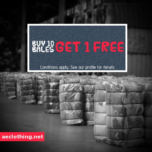 Buy 10 bales of clothing and get 1 free