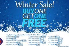 Winter Sale Buy 1 Get 1 Free