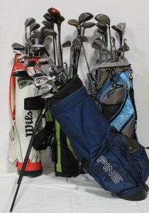 Hockey Sticks and Bags